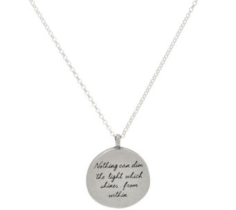 "Maya Angelou ""The Light"" Sterling Quote Pendant by Dogeared - J333787"