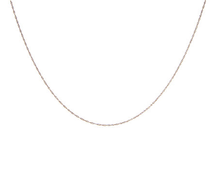 "16"" Singapore Chocolate Gold Necklace, 14K"
