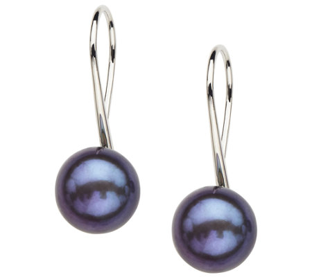 Honora Sterling 10.0mm - 10.5mm Color CulturedPearl Earrings