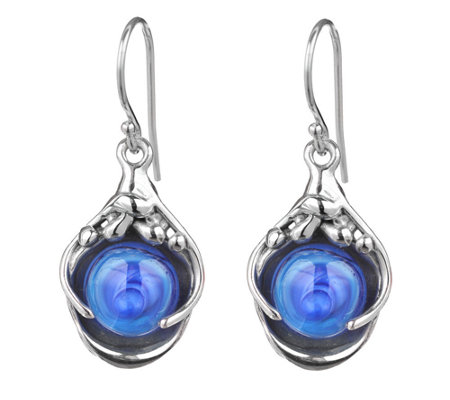 Kalos by Hagit Sterling Pools of Color Glass Dr op Earrings