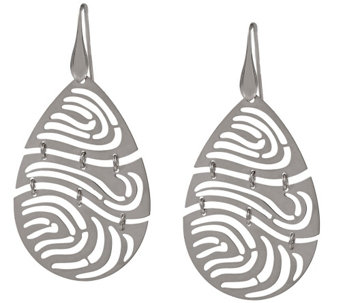 Bronzo Italia Pear-Shaped Openwork Dangle Earrings - J337787
