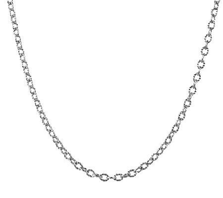 "Sterling 24"" Curb Link Chain Necklace, by American West"