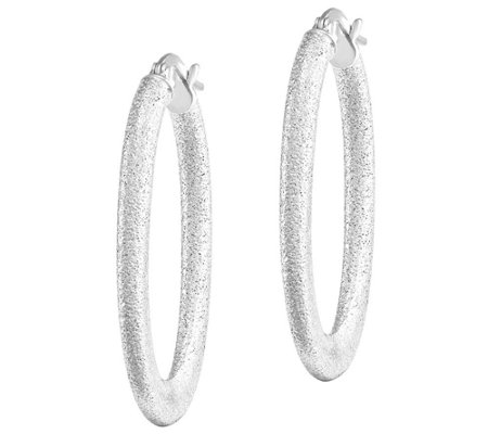 Laser-Cut Tapered Oval Hoop Earrings, 14K Gold