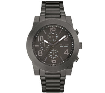 Caravelle New York Men's Black Chronograph DialBracelet Watch - J339787