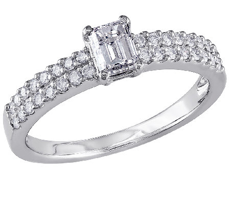 Emerald-Cut Diamond Ring, 3/4ttw 14K White Goldby Affinity