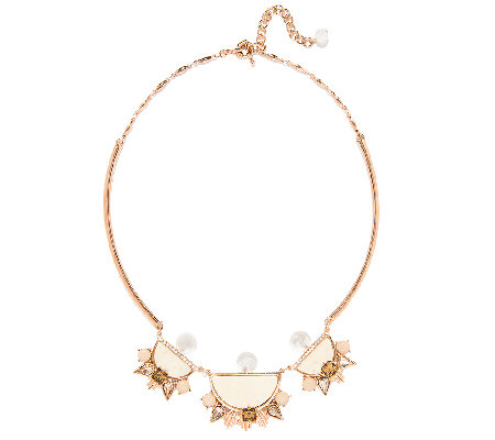 Capwell Rosetone Piece of Cake Tube Necklace