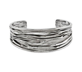 Sterling SilverTextured Bold Cuff by Silver Style - J342087