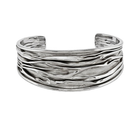 Sterling SilverTextured Bold Cuff by Silver Style