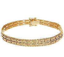 "Imperial Gold 7-1/4"" Mirror Bar Bracelet, 14K, 17.4g - J348387"