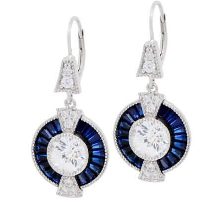 TOVA for Diamonique and Simulated Sapphire Drop Earrings