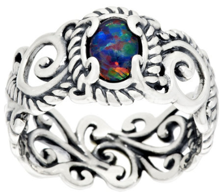 """As Is"" Carolyn Pollack Signature  Band Ring"