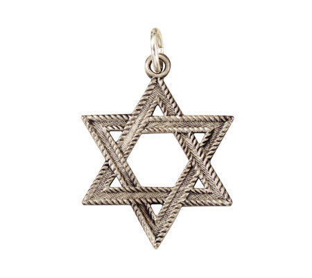 Sterling Florentine Star of David Medal