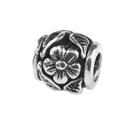 Prerogatives Sterling Flower and Leaf Bead