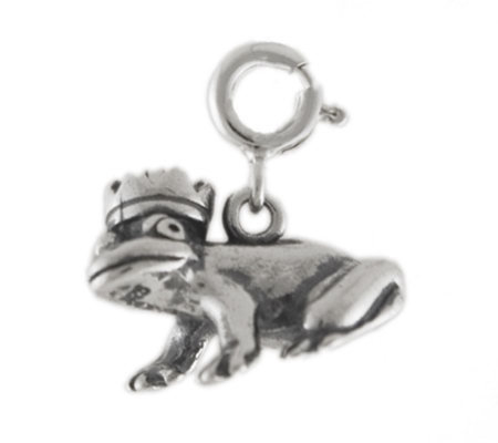 Sterling Frog Prince Charm