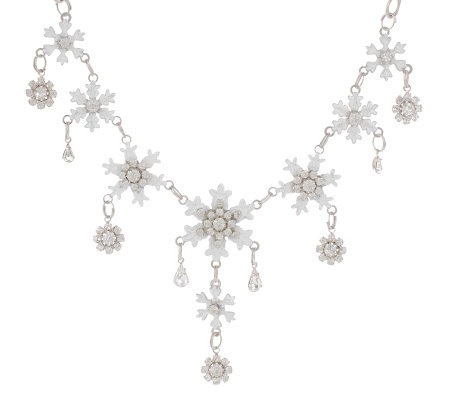 "Lunch at the Ritz 2GO Let it Snow 18"" Necklace w/ 3"" extender"