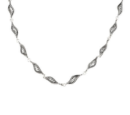 "Artisan Crafted Sterling 16"" Telkari Filigree Chain, 11.1g"