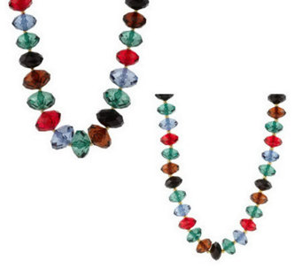 """As Is"" Joan Rivers Set of 2 Faceted Bead Necklaces - J288588"