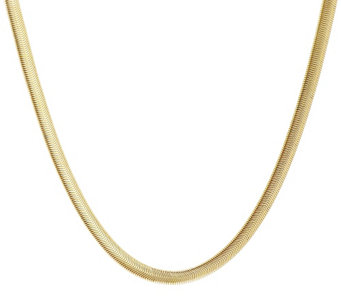 "Stainless Steel Flexible 18"" Omega Chain Necklace - J293688"