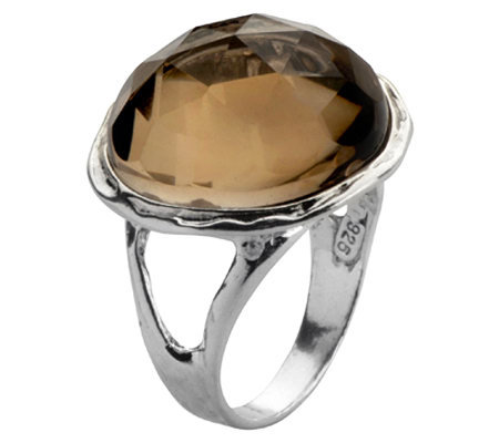 Or Paz Sterling Round Gemstone Ring
