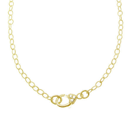 "Judith Ripka Harlow 24"" Chain Necklace, Sterling 14K Clad"