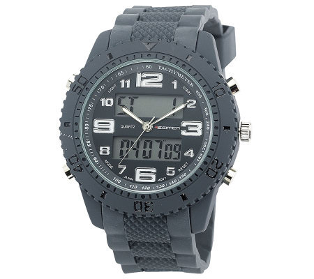 Men's USMC Regimen Gray Analog-Digital Chronograph Watch