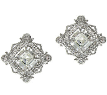 Judith Ripka Sterling 6.00 cttw Diamonique Earrings - J315688