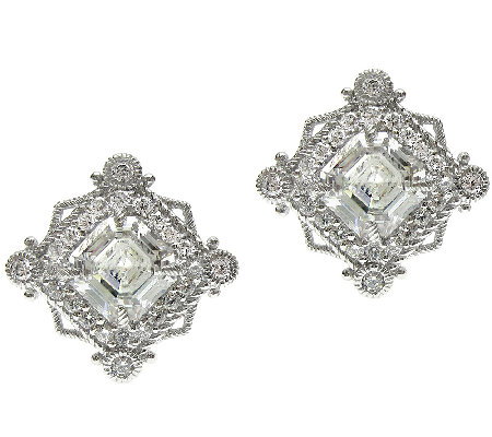 Judith Ripka Sterling 6.00 cttw Diamonique Earrings