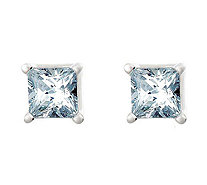 Princess Cut Diamond Stud Earrings, 14K, 1/2cttw, by Affinity - J316888