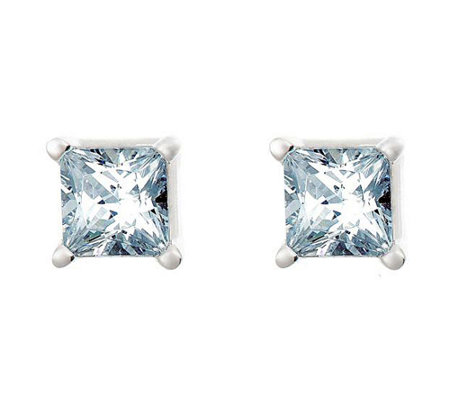 Princess Cut Diamond Stud Earrings, 14K, 1/2cttw, by Affinity
