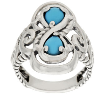 Carolyn Pollack Sleeping Beauty Turquoise Swirl Design Ring - J318288