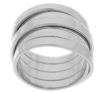 """As Is"" VicenzaSilver Sterling Wrap Design Ring - J320088"