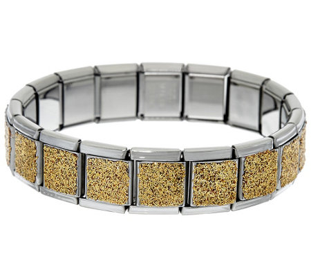Stainless Steel Stretch Glitter Bracelet