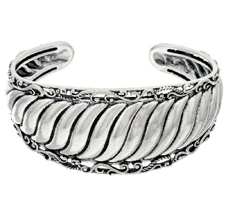Carolyn Pollack Sterling Silver Signature Ribbed Cuff 38.0g