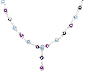Franco P Sterling Stars 12.35 cttw Gemstone Necklace - J330488