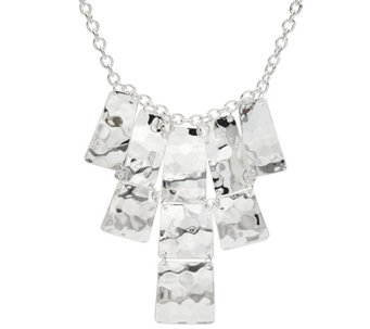 RLM White Bronze Moving Squares Bib Necklace - J331288