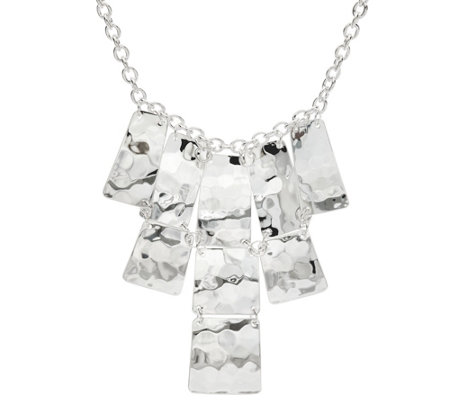 RLM White Bronze Moving Squares Bib Necklace