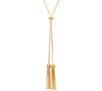 """As Is"" Adjustable 32"" Tassel Lariat Necklace 17.00g by Silver Style - J332388"