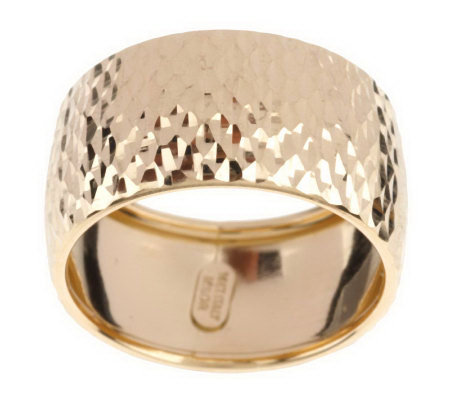 Diamond Cut Band Ring 14K Gold