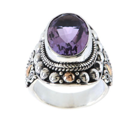 Suarti Artisan Crafted Sterling 18k 4 50 Ct Amethyst Ring