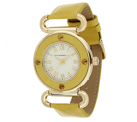 Isaac Mizrahi Live! Vintage Dial Strap Watch