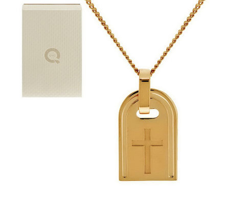 Bronzo Italia Yellow Bronze Symbol Tag Necklace