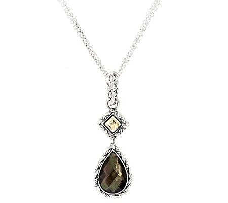 JAI Sterling & 14k Trellis Gemstone Necklace