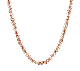 "Bronze 18"" Polished Confetti Dangle Necklace by Bronzo Italia - J293589"