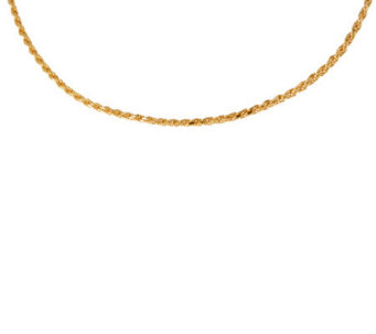 "Veronese 18K Clad 24"" Rope Chain Necklace - J299089"