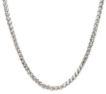 Forza Men's Stainless Steel Bold Wheat Necklace - J300689