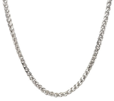 Forza Men's Stainless Steel Bold Wheat Necklace