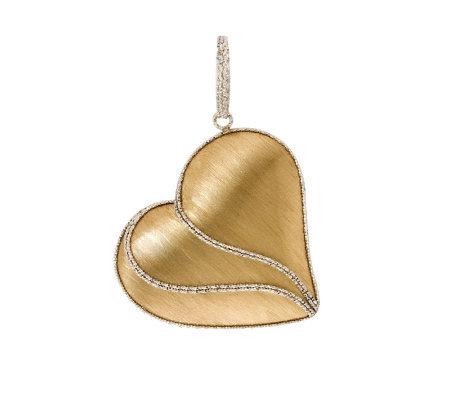 Arte d' Oro Two-tone Satin & Diamond-Cut HeartPendant, 18K