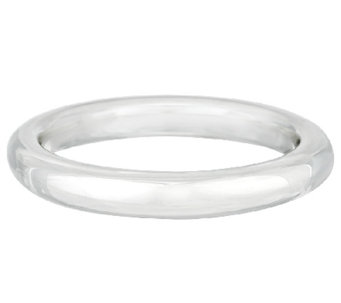 """As Is"" Ultra Fine Silver Average Bold Polished Domed Round Bangle - J317489"