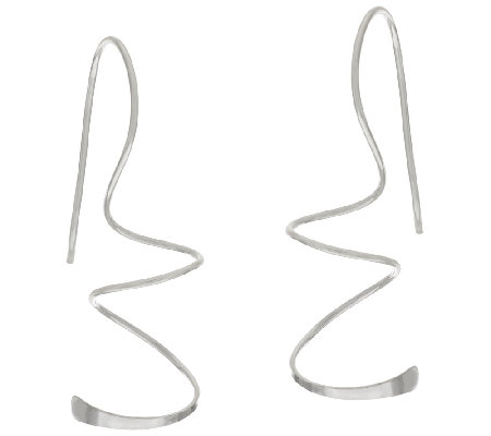Silver Style Spiral Design Sterling Earrings