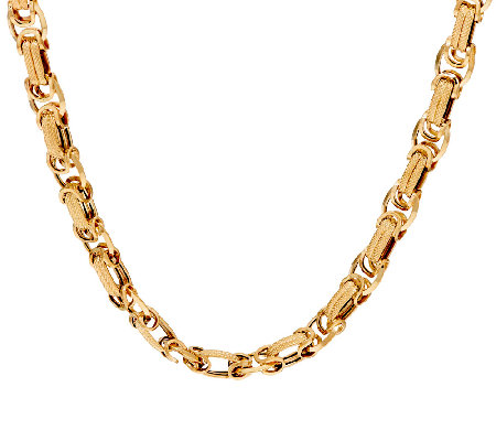"14K Gold 18"" Dimensional Byzantine Necklace, 15.2g"